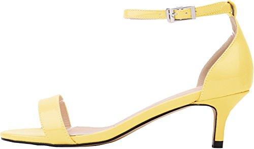 CFP , Damen Peep Toes , gelb - gelb - Größe: 40