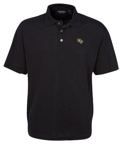finest selection 51f93 c90f3 Oxford NCAA Men's Central Florida Golden Knights 3-Button Polo With Hemmed  Sleeves (Black, Large)