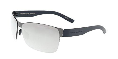 Porsche Design Men's P8582 P'8582 A Mercury Rectangle Sunglasses - Sunglasses Porsche