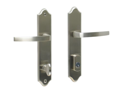 Tuscany by FPL- Solid Brass Active Trim Only Lever Set for Multipoint Lock, Schlage Keyway, Satin Nickel