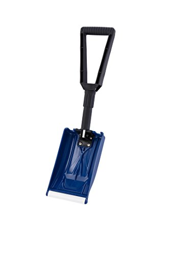 "ORIENTOOLS Collapsible Folding Snow Shovel with Durable Aluminum Edge Blade (Blade 6"")"