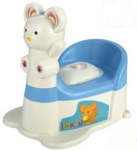 Cute Cartoon Little Bear Musical Drawer Design Child Seat Potty Trainer K1214 (Blue)