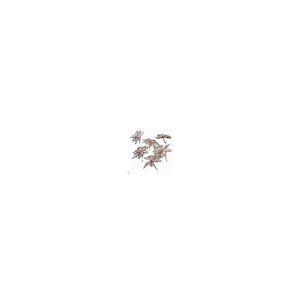 Shinoda-Design-Center-7-D-Glittered-Rose-Gold-Poinsettia-Pick-6Bag
