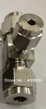 Maslin SS304 Tee, 8-6-8mm Stainless Steel tee, Stainless fittigs, Stainless Steel Hexagon tee, Hexagon Tee