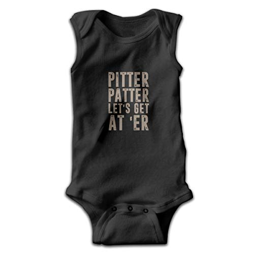 Crali Pitter Patter LetterKenny Sleeveless Bodysuits Rompers Outfits ()
