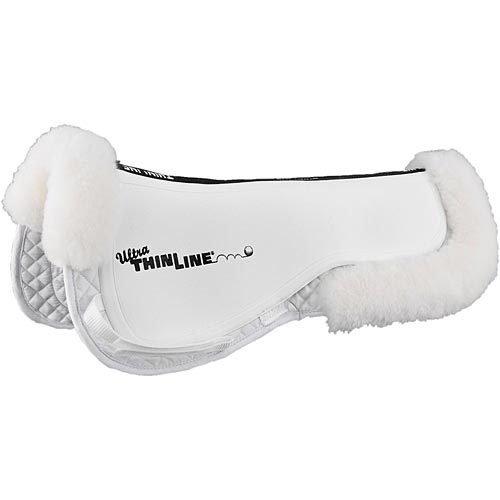 (Thinline Ultra Trifecta Sheepskin Trim Half Pad White)
