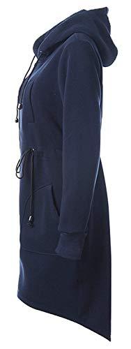 Coulisse Abbigliamento Targogo Lunga Invernali Donna C Blau Con Manica Trench Giubotto awr0a8