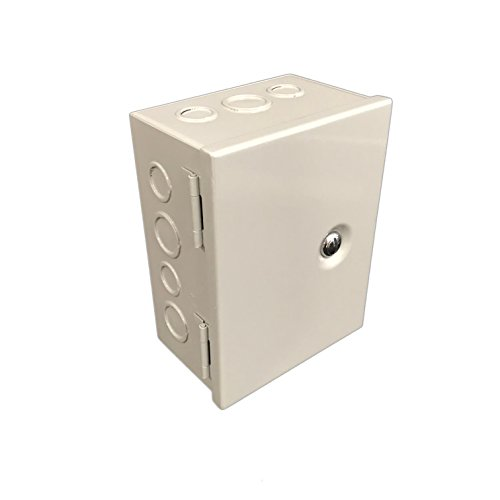Pvc Switch Box - BUD Industries JBH-4956-KO Steel NEMA 1 Sheet Metal Box with Knockout and Hinged Cover, 6
