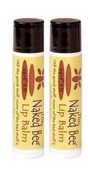 Naked Bee Moisturizing Orange Blossom Honey Lip Balm 2-pack