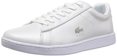 Lacoste Women's Carnaby EVO 118 6 Spw Sneaker, Wht/Ltgry, 7 M US (White Lacoste Sneakers)