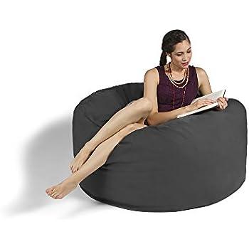 Jaxx Bean Bag Gaming Chair Charcoal 4u0027  sc 1 st  Amazon.com & Amazon.com: Jaxx Bean Bag Gaming Chair Charcoal 4u0027: Kitchen u0026 Dining