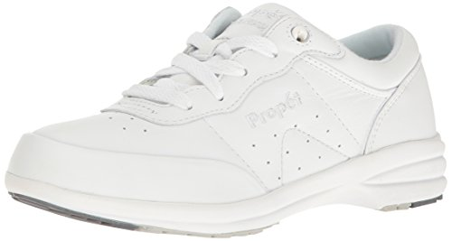 Propet Womens Washable Walker Shoe (Propet Women's W3840 Washable Walker Sneaker,White,8.5 X (US Women's 8.5)