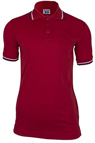 CHAMPRO Umpire Polo Shirt; Adult Red, X-Large ()
