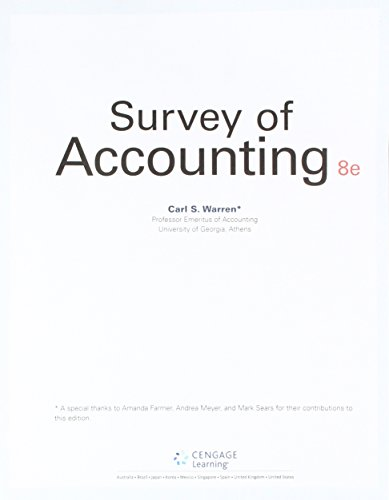 Survey Of Accounting (Ll) W/Cengagenow