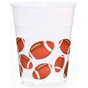 Football Fan Plastic Party Cups]()