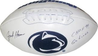 - Jack Ham signed Penn State Nittany Lions Logo Football w/dual CHOF 90 & Go Lions - Autographed College Footballs