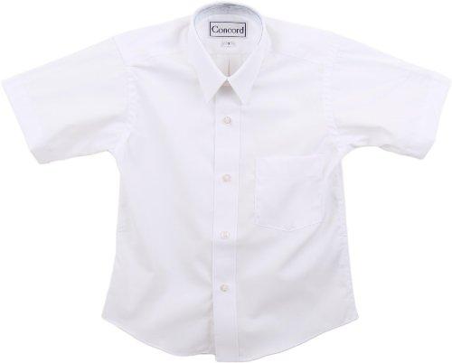 Concord Boys Short Sleeve White Dress Shirt - White, - Free Concord Store