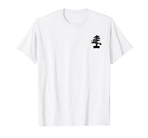 Bonsai Tree silhouette small chest logo ()