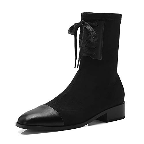 AdeeSu Womens Casual Nubuck Solid Black Urethane Boots SXE04922-9 B(M) US