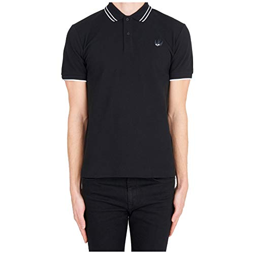McQ Alexander McQueen Men Polo t-Shirt Badge Swallow Nero S