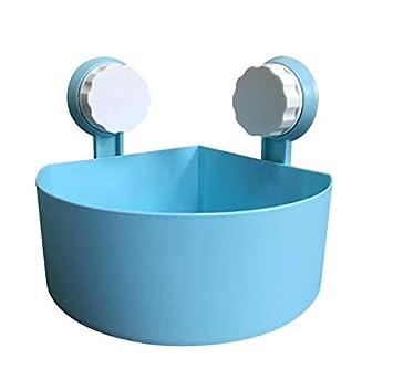 DIPOLA Kunststoff-Saugnapf Badezimmer-K/üchenecke Lagerregal Ablagenregal Duschregal Saugnapf-Badregal wei/ß, rosa, gr/ün, blau
