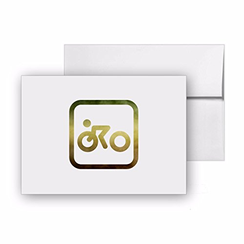 (Cycle Race Cycle Sport Olympic, Blank Card Invitation Pack, 15 cards at 4x6, with White Envelopes, Item)