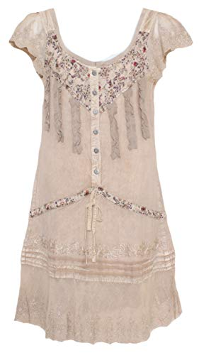 - Sacred Threads Cute Rayon Dress - Small Size #214310 Beige