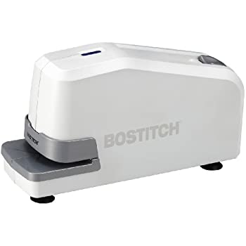 Bostitch Impulse 25 Sheet Electric Stapler - Heavy Duty, No-Jam with Trusted Warranty Guaranteed by Bostitch, White (02011)