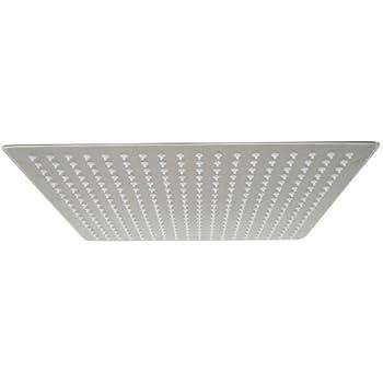 ALFI Brand RAIN16S 16 Inch Solid Square Ultra Thin Rain Shower Head,  Brushed Stainless