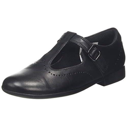 chollos oferta descuentos barato Clarks Scala Seek K Sandalias Punta Cerrada para Niñas Negro Black Leather Black Leather 31 EU
