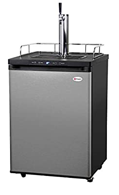 Kegco K309SS-1P Digital Keg Beer Cooler - Premium Single Faucet D System Kit - Stainless Door