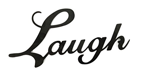 Laugh Black Metal Wall Word