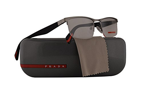 Prada PS52FV Eyeglasses 52-18-140 Gunmetal Grey Rubber w/Demo Clear Lens UA31O1 VPS52F VPS 52F PS 52FV (Prada Reading Glasses For Men)