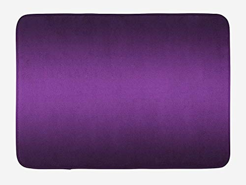 Series Bedroom Slat (Ombre Bath Mat, Cinema Curtain Movies Series Inspired Color Ombre Design Digital Artsy Styled Print Image, Plush Bathroom Decor Mat with Non Slip Backing, 23.6 W X 15.7 W Inches, Purple)