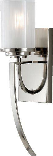 - Feiss WB1561PN Finley Glass Wall Sconce Lighting, Chrome, 1-Light (5