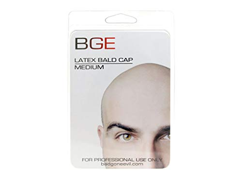 BGE Medium Latex Flesh Tone Bald Cap -