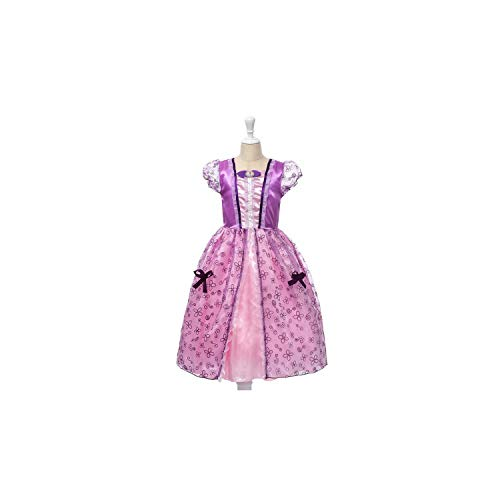 Girl Costume Rapunzel Up Snow White Princess Cinderella Aurora Sofia Halloween Party Cosplay,Sofia Dress,7]()