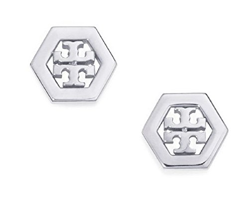 Tory Burch Hex Logo Earrings Silver product image