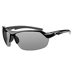 Ryders Eyewear BINDER Anti-Fog Cycling Sunglasses with Grey Photochromic Tint Changing Lenses, Black