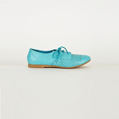 Stylish Fashion 54046blu-004 - Zapatos de cordones para mujer