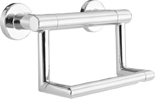Delta Faucet 41550 Contemporary pivoting Tissue Holder Assist Bar, Polished Chrome by Delta Faucet