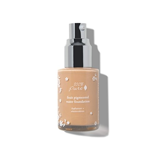 100% PURE Fruit Pigmented Water Foundation: White Peach, Glowing Skin & Flawless Coverage (100 Foundation Percent)