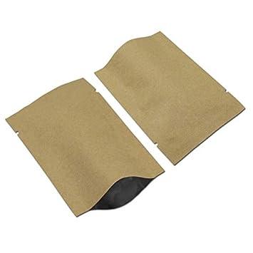 Amazon.com: BeesClover - Bolsas de papel Kraft con cierre de ...