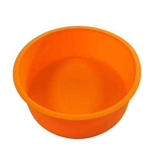 Colmkley Baking Round Cake Pan, Non-Stick Silicone, Silicone Mold for Soap, Cake, Bread, Cupcake, Cheesecake, Cornbread, Muffin, Brownie, and More -