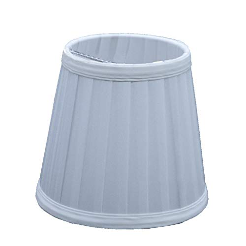 Silver Accent Lamp Pleated Shade - RSLG Vintage Fabric Pleated Lampshade Table Desk Bed Lamp Cover Holder Chandelier (C)