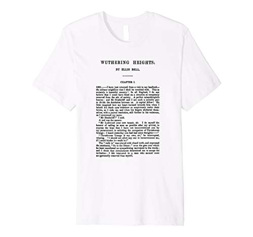 HIGH RESOLUTION Wuthering Heights Emily Bronte First Page Premium T-Shirt