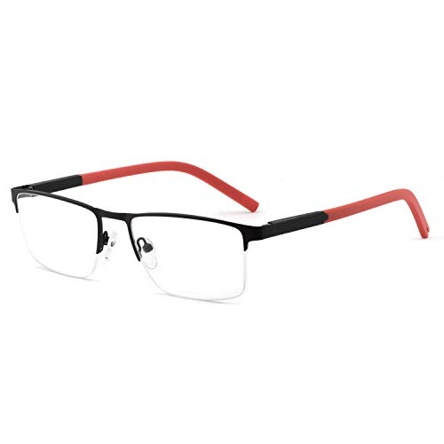 OCCI CHIARI Optical Eyewear Non-prescription Eyeglasses Frame with Clear Lenses for Mens ()