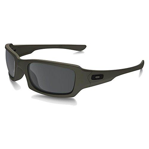 Oakley SI Fives Squared Cerakote Mil Spec Green Black Iridum Lens - Squared Sunglasses Oakley Five