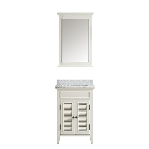Vinnova 708024-AW-CA Modern Piedmont 24 inch single Vanity In Antique White with (Piedmont Counter)