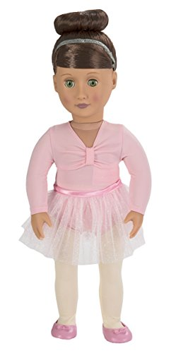 our-generation-deluxe-sydney-lee-poseable-doll-set-with-ballerina-outfit-purple-dance-outfit-and-sta